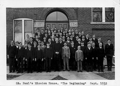 First class of St Paul's Mission House 1932
