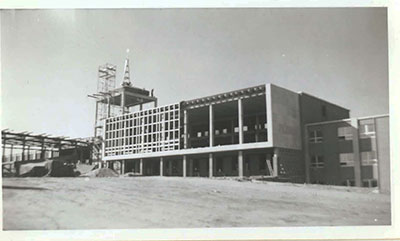 Construction of Divine Word College main building